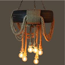 unique indoor lighting. Perfect Indoor Shabby Chic Pendant Lighting Unique Tire Rope Chandelier E27 Lamp  Lamps Indoor Intended