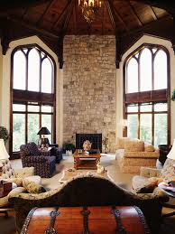 Medieval Bedroom Decor Amazing Arched Windows With Stone Fireplace For Medieval Living