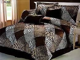 What size is a queen comforter Nepinetwork Image Unavailable Amazoncom Amazoncom Pieces Multi Animal Print Comforter Set Queen Size