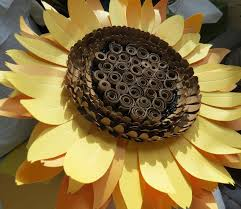 giant paper sunflower wall art floral decor paper sculpture flower taxidermy no 77 on diy sunflower wall art with giant paper sunflower wall art floral decor paper sculpture
