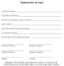 Simple Bill Of Sale For Car Template Bill Of Sale Form Luxury Template Motor Vehicle Free Download