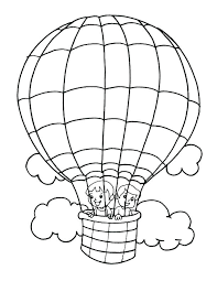 balloon coloring page hot air pictures pages kids in co