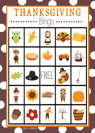 Thanksgiving Printables: Mad Libs, Color by Number and Bingo