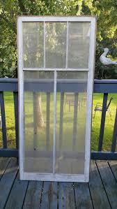 Old Window Frame 5 Pane Glass Lites Rustic Wedding Home