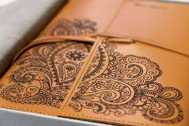 laser engraving leather book