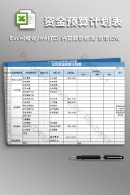 Budget Plan Excel Company Fund Budget Plan Form Excel Template Xls Free