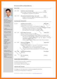 15 Cv Format For Job Application Pdf Example College Resume