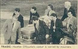 heather o rourke funeral photos. Contemporary Rourke Heather Ou0027Rourke Funeral  1988 And O Rourke Photos E