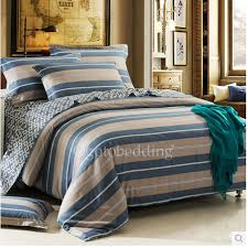 blue and brown striped designer pretty duvet covers