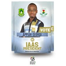 George Appiah As Iaas President A3 Election Campaign Poster Design