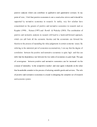 the role of positive and normative economics in scholarly rese   5 positive