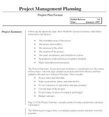Word Project Microsoft Word Project Management Template Plan Format