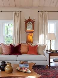 Orange And Brown Living Room Accessories Fall Color Trends Hgtv