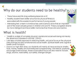 staff presentation topic a healthy lifestyle and good life skills 3 why