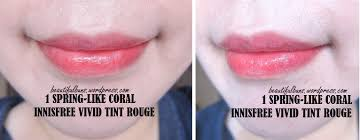 Review Innisfree Vivid Tint Rouge Beautifulbuns A Beauty