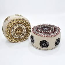<b>Mandala Style</b> Round Indian Pouf   50 x 50 cm – Crochet Saro