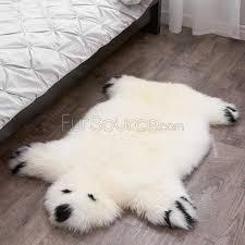 wanted polar bear rug kids white polar bear sheepskin fur rug fursource com