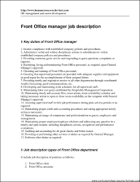 Resume Format For Front Office Executive Free Samples Exa Sevte