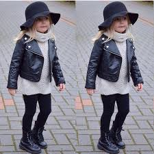 text text text text text new kids girl clothing pu leather jacket biker overcoat black jacket coat winter