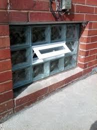 glass block basement window open vent windows rochester ny