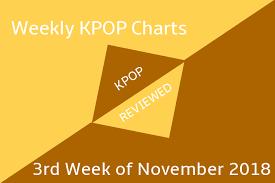 All Kpop Chart Weekly Chart 3rd Week Of November 2018 Kpopreviewed