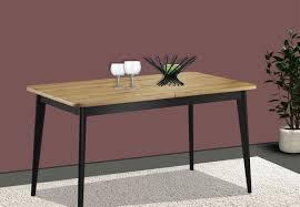 Esstisch Küchentisch Holztisch 140x75cm Ausziehbar Artisan Eiche Schwarz