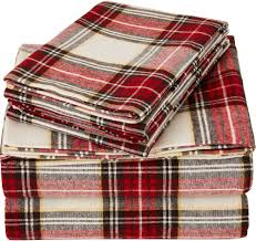 red plaid flannel duvet cover