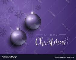 Purple Christmas Card Purple Christmas Baubles Luxury Greeting Card