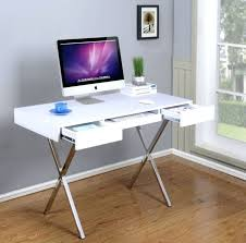 contemporary glass desks for home office. desk: kings brand contemporary style white with chrome finish legs home office desk glass desks for d