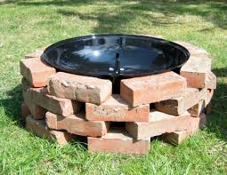 diy build brick fire pit grill