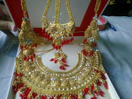 indian original gold plated bridal jewellery set karrayfree in stan