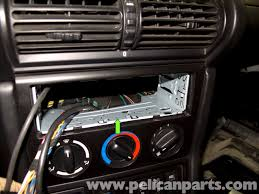 bmw z3 radio removal and replacement 1996 2002 pelican parts diy mercedes e320 wiring harness bmw z3 radio wiring harness