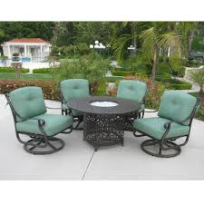 kingston swivel club chairs with fire pit table