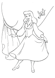 Cinderella Coloring Pages Printable Free Beautiful Colouring