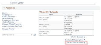 University Timetable Maker Visual Schedule Builder Registrar Ryerson University