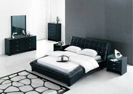 black bed set with gray wall paint bedroom furniture in black