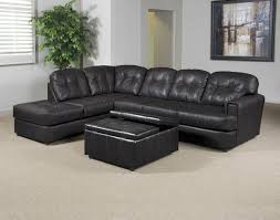 Serta Living Room Furniture Eastern Charcoal Bonded Leather Sectional By Serta Upholstery My