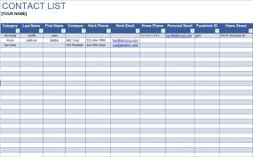 company phone list template 6 free media contact list templates stationery templates