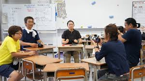 kamaishi city kamaishi higashi junior high school for our children this is the second interview of ramt to h o sensi we took the coverage at the classroom of the kamaishi junior high school which is different to the