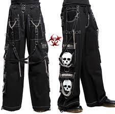Black chain bondage pants