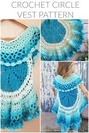 Crochet Circular Vest Pattern Free Delectable Crochet Circle Vest Hooked On Homemade Happiness