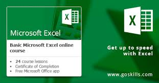 free xcel microsoft excel basic online training course goskills