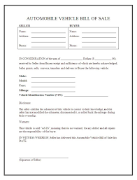 Bill Of Sale Auto California Vehicle Bill Of Sale Template Word 2003 And Auto Bill Of Sale