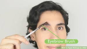 image led apply makeup as a man step 11