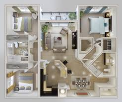 Apartment Bedroom 3 Bedroom Apartment House Plans