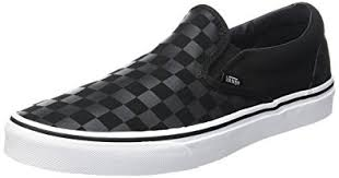 vans black. amazon.com | vans classic slip-on (black/black checkerboard) men\u0027s skate shoes skateboarding black