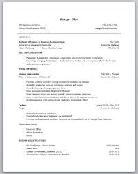 Resume Templates For College Students With No Experience Examples