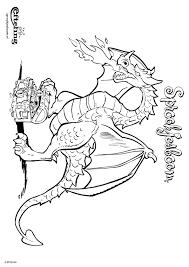 Kleurplaat Sprookjesboom Draak Bewaakt Zijn Schatkist Kleurplatennl