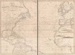 A Chart Of The Atlantic Or Western Ocean Geographicus Rare