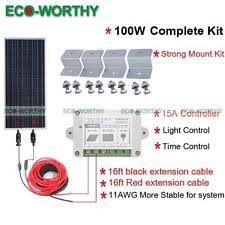 rv solar panel kit 100w off grid solar panel kit 100w solar panel system for 12v rv battery charger